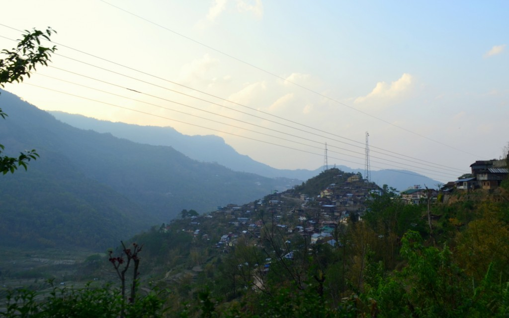 View of Kohima from Khonoma